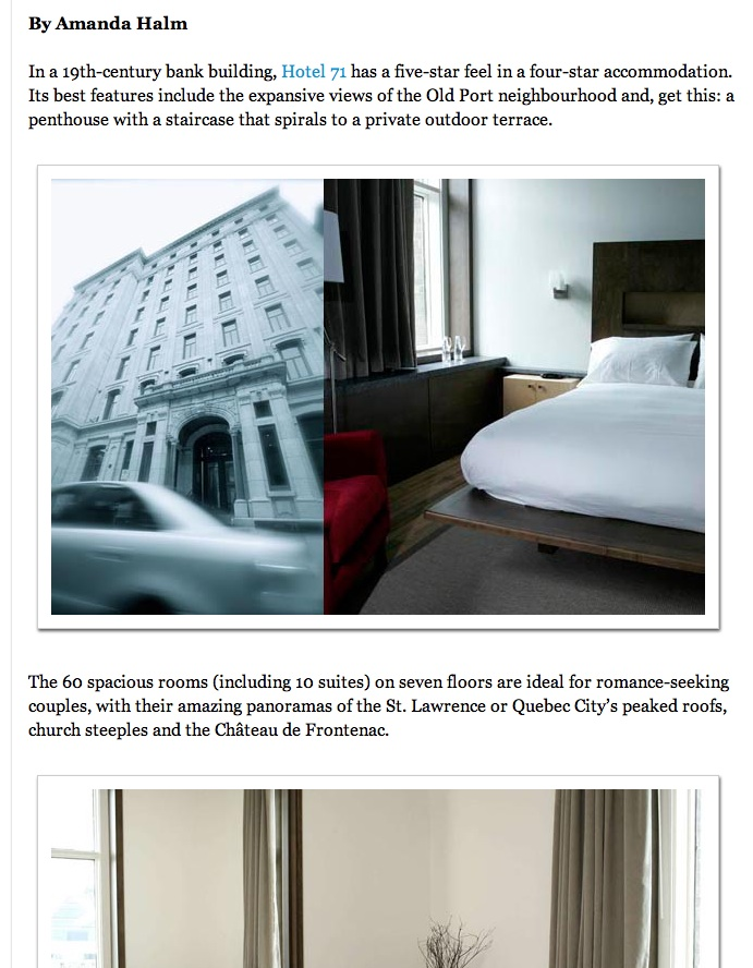 travel writing, hotel tours